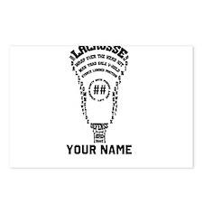 Lacrosse Defense Head Custom Postcards (Package of