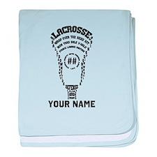 Lacrosse Defense Head Custom baby blanket