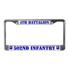 4th Battalion 502nd Infantry License Plate Frame