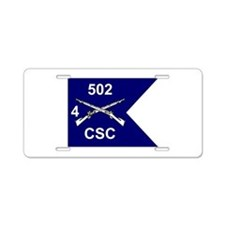 CSC/4/502 Aluminum License Plate