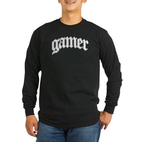 Gamer GTA Style Long Sleeve Dark T-Shirt