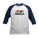 I Love My Abuela Kids Baseball Jersey