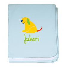 Jabari Loves Puppies baby blanket