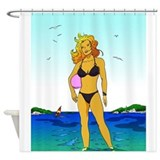 Perroquet Bay 01 Shower Curtain