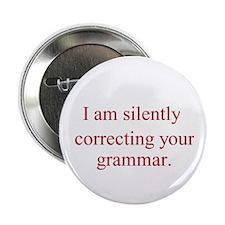 """Silent Grammar 2.25"""" Button (100 pack)"""