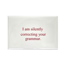 Silent Grammar Rectangle Magnet (10 pack)