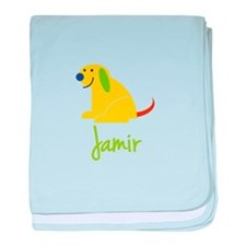 Jamir Loves Puppies baby blanket