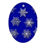 Snowflake Holiday Oval Ornament