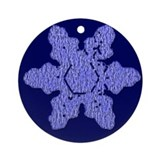Lacy Look Snow Flake Ornament (Round)