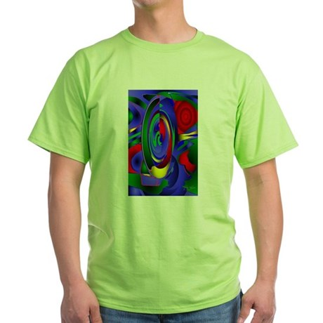Abstract 001a Green T-Shirt