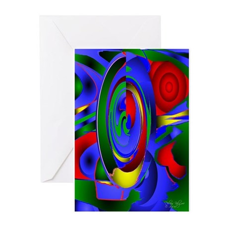Abstract 001a Greeting Cards (Pk of 10)