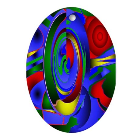 Abstract 001a Oval Ornament