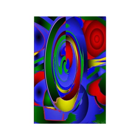 Abstract 001a Rectangle Magnet (100 pack)