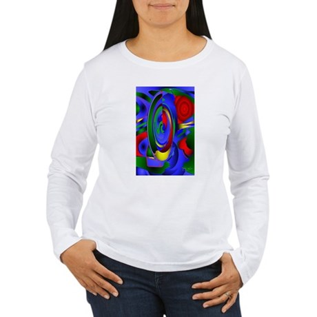 Abstract 001a Women's Long Sleeve T-Shirt