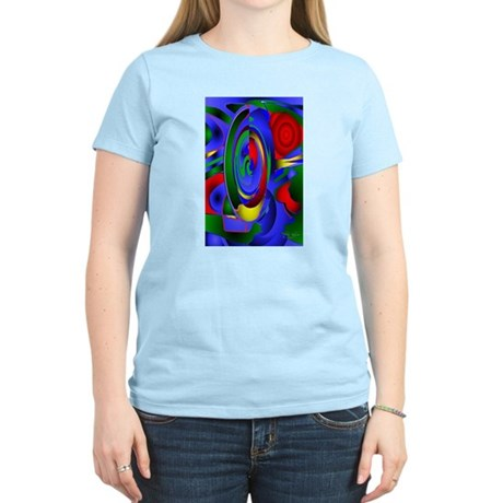 Abstract 001a Women's Pink T-Shirt
