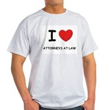 I love attorneys at law Ash Grey T-Shirt