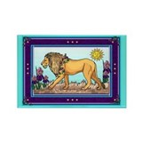 Spring Lion Rectangle Magnet