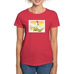 White Leghorn Chickens Women's Dark T-Shirt