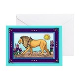 Spring Lion Greeting Card