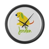 Jorden Loves Puppies Large Wall Clock