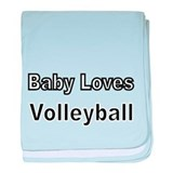 Baby Loves Volleyball baby blanket