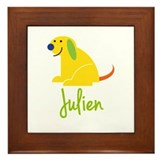 Julien Loves Puppies Framed Tile