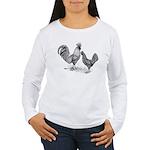 California Grey Chickens Women's Long Sleeve T-Shi