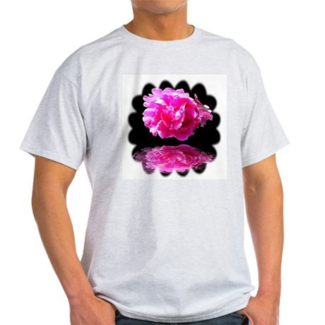 Peony Reflections Ash Grey T-Shirt