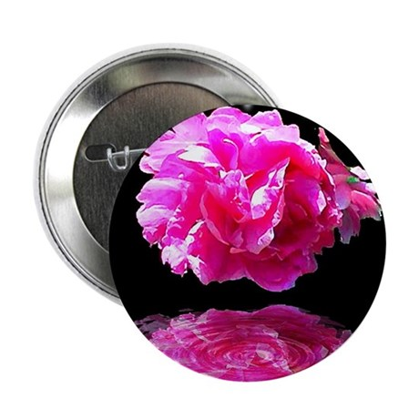 Peony Reflections Button