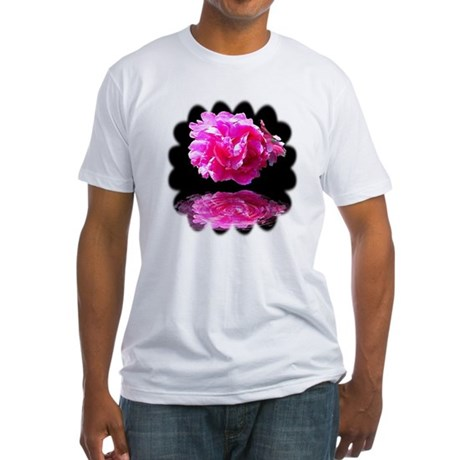 Peony Reflections Fitted T-Shirt