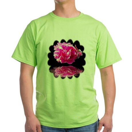 Peony Reflections Green T-Shirt