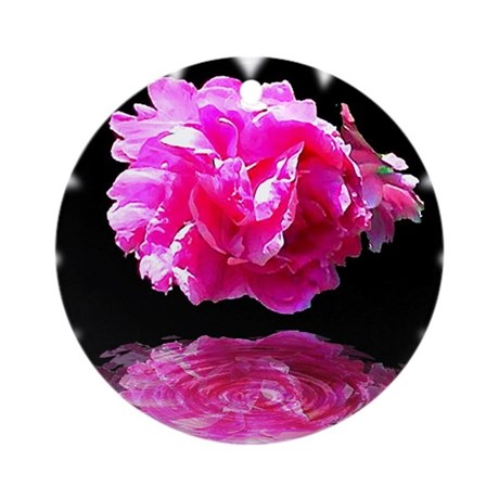 Peony Reflections Ornament (Round)