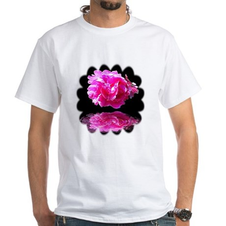 Peony Reflections White T-Shirt