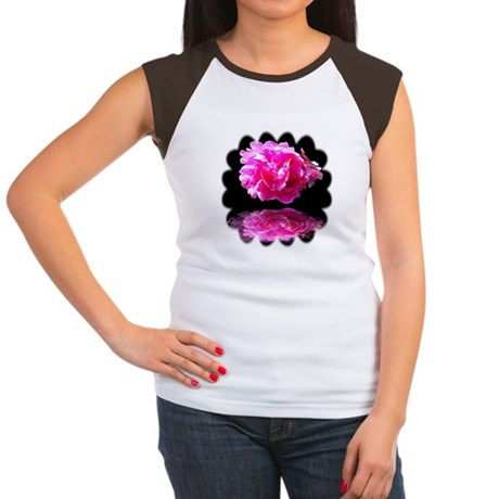 Peony Reflections Women's Cap Sleeve T-Shirt