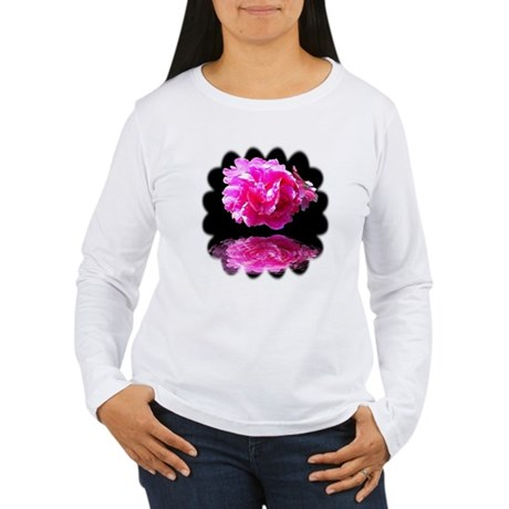 Peony Reflections Women's Long Sleeve T-Shirt