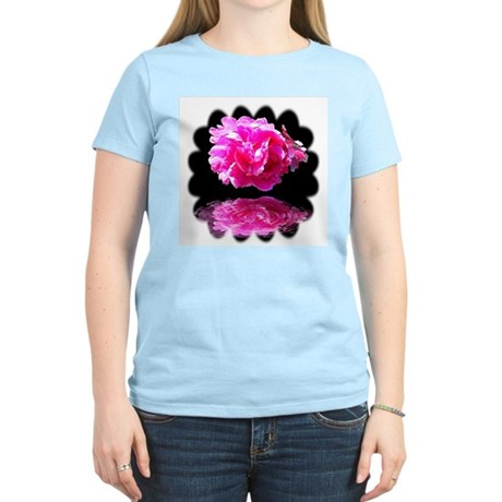 Peony Reflections Women's Pink T-Shirt