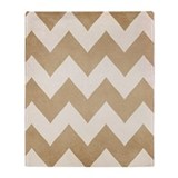 Biscotti & Vanilla - Chevron -Throw Blanket