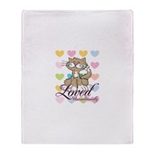 Loved Unconditionally Cat Throw Blanket