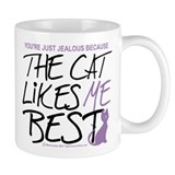 The Cat Likes Me Best  Tasse