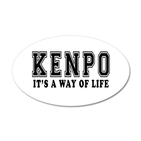 Kenpo Is Life 35x21 Oval Wall Decal