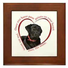 Lab Paw Prints Framed Tile