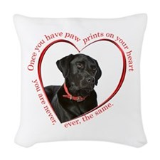 Lab Paw Prints Woven Throw Pillow