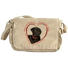 Lab Paw Prints Messenger Bag