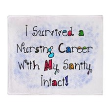 i survived nursing career PILLOW Throw Blanket