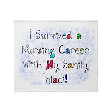 i survived nursing career PILLOW Throw Blanket
