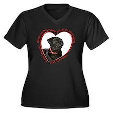 Lab Paw Prints Plus Size T-Shirt