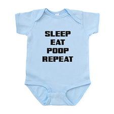 SLEEP EAT POOP REPEAT Body Suit