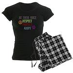 Respect Protect Adopt Women's Dark Pajamas