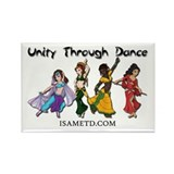 ISAMETD Unity Through Dance Rectangle Magnet