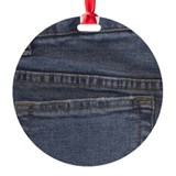 Blue Denim Pocket Ornament